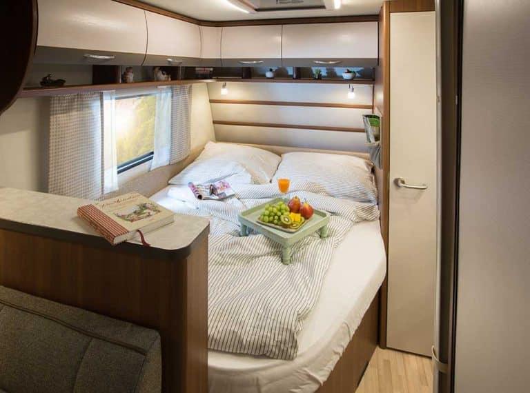 מיטה זוגית בקרוואן דגם vivo 520k